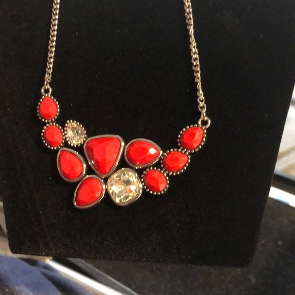 Breathtaking Brilliance Red Necklace and Earrings